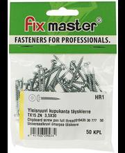 Fixmaster universaalkruvi, ümarpea, TX15 ZN, 3,5 x 30 mm, 50 tk