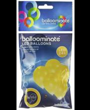 LED-õhupall, kuldne 5 tk