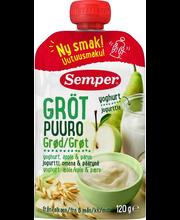 Semper õuna-pirnipüree jogurtiga 120 g, alates 6-elukuust