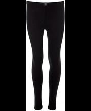 Tüdrukute pikad aluspüksid, must 130 cm