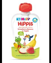 Hipp Hippis õuna-maasika-banaanipüree 100 g, öko, alates 4-el...