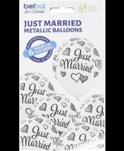 Õhupallid Just Married, 6 tk