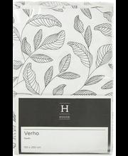 Kardin Lehdet 150 x 250 cm, must/valge, 100% puuvill