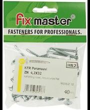 Fixmaster plekikruvi KFR puurotsaga, 4,2 x 32 mm, 40 tk