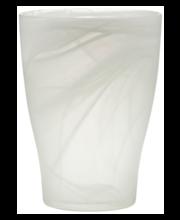 Orhideepott 17cm, valge klaas