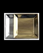 Papptaldrik 23x23cm kuld/hõbe 10tk