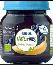 NaturNes banaani-mustika püree 125 g, alates 4-elukuust
