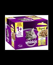 Whiskas 1+ täissöödavalik kassidele kastmes linnulihaga, 24 x...