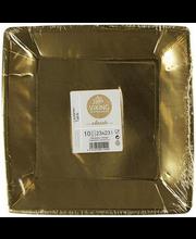 Papptaldrik 23x23 cm 10 tk, kuld/hõbe