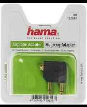 Audioadapter lennukis kasutamiseks, 2 x 3,5 mm otsik (mono) - 3,5 mmpesa