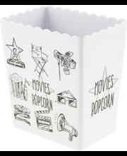 Popcornikarp Leffaan, must/valge