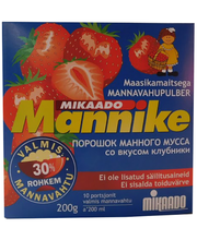 Mannike maasikamaitseline mannavahupulber 200g