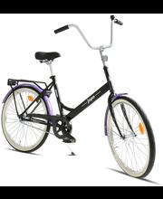 "Jalgratas Helkama Jopo 24"", must/lilla"