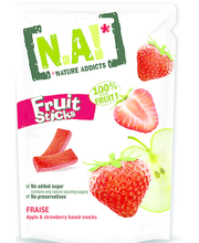 N.A! Nature Addicts Fruit Sticks maasikasnäkid 35 g