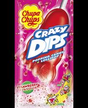Chupa Chups Crazy Dips pulgakomm prõksuva suhkrupuruga 14 g