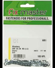 Fixmaster seib, DIN 125 ZN M3, 7 mm, 100 tk