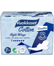 Vuokkoset Cotton Night hügieeniside 9 tk