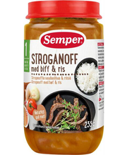 Semper strooganov riisiga 235 g, alates 1-eluaastast