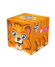 Taskurätikud 60tk kids 3d box/ 3kihil
