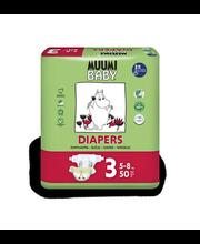 Muumi Baby teipmähkmed Diapers 3, 5-8 kg, 50 tk