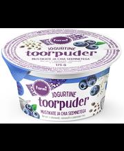 Jogurtine toorpuder mustikate ja chia seemnetega, 175 g