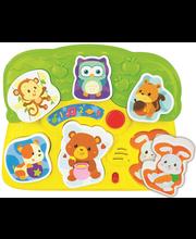Loomapuzzle beebidele heli ja valgusega