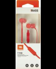 Nööpkõrvaklapid mikrofoniga T110, punane