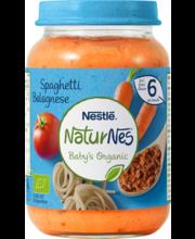 NaturNes spagetid hakklihaga 190 g, alates 6-elukuust