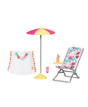 Baby Born nuku rannamööbel holiday deckchair 43 cm