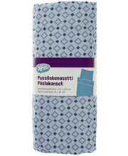 Voodipesukomplekt Exotic 150x210/55x65 cm sinine 100% puuvill