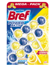 Bref Power Aktiv Lemon WC-värskendaja 3 x 50 g