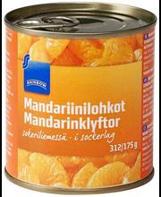 Mandariinisektorid suhkruleemes 312/175 g
