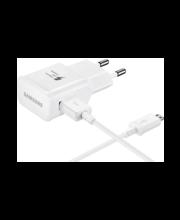 Samsungi micro-USB-liidesega kiirlaadur, valge