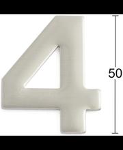 Habo uksenumber 4, 50 mm, roostevaba teras