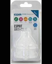 Esska Esprit Anti-Colic silikoonist pudelilutt, alates 2-elukuust, 2 tk