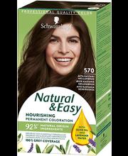 Juuksevärv Natural & Easy 570 kastan keskmine pruun