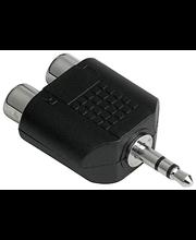 Audio adapter 3,5 mm otsik-2 x RCA pesa, stereo