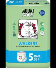 Muumi Walkers 5 Maxi+ Püksmähe 10-15kg 38 tk.