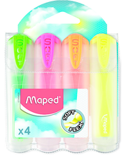 Tekstimarker Fluo Peps Ultra Soft Transparent 4tk blistril