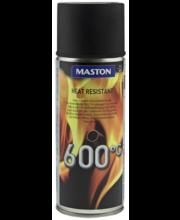 Silikoonvärv kuumakindel 600°C 400ml must