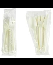 Söögitarvikute kompl.(kahvel,nuga,lusikas), biolagunev