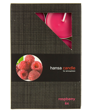 Teeküünal 6tk rasberry