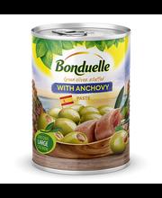 Bonduelle anšoovisepastaga täidetud rohelised oliivid 300/110 g