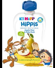 Hipp Hippis õuna-pirnipüree kuivikutega 100 g, öko, alates 4-...