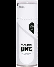 Akrüülvärv One Spray 400ml RAL 9019 läikiv valge