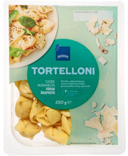 Tortelloonid Ricotta, Edami, Emmentali, Grana Padano ja Gorgo...