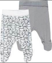 Beebi püksid 2-paari, valge/hall 68