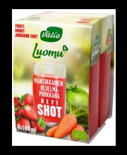 Valio mahe maasika-puuvilja-porgandi shot, 4x100ml