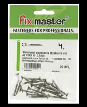 Fixmaster universaalkruvi, peitpea, A2 TX10, 3,5 x 30 mm, 20 tk