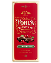 Kalev pohlamarmelaadi täidisega tume šokolaad, 110 g